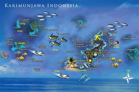 Peta Kepulauan Karimunjawa   LiburMulu.Com