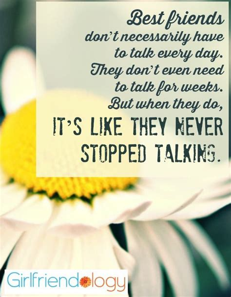 best everyday best friends don t to talk everyday quote