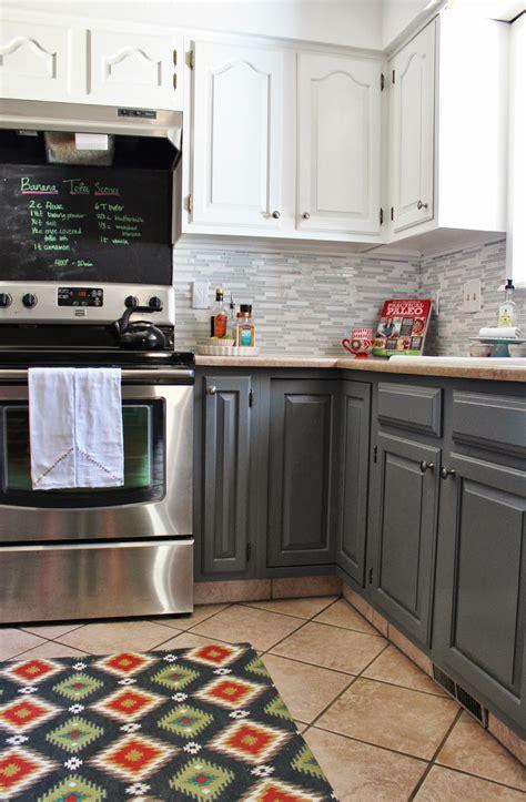 Kitchen Floor Tile Makeover Remodelaholic Grey And White Kitchen Makeover