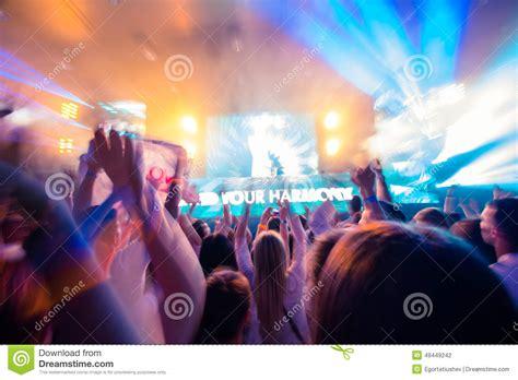 Party Floor Plan Dance Club With Dj Stock Photo Image 49449242