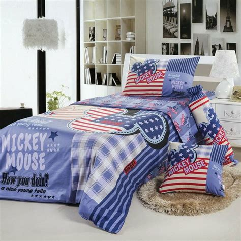 Flag Comforter by American Flag Bedding Mickey Mouse American Flag Style