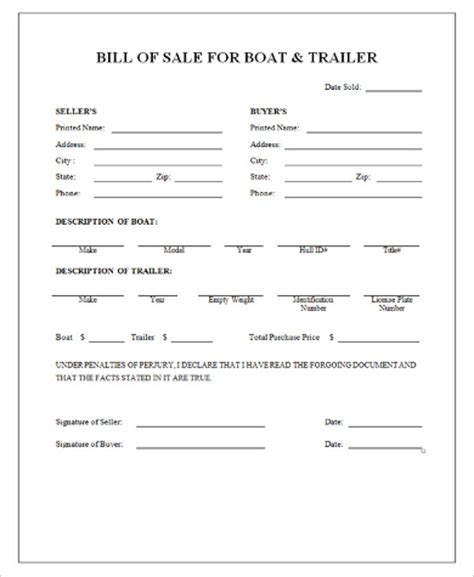 boat and trailer bill of sale as is no warranty 9 sle boat bill of sales free sle exle format