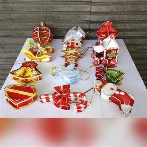 Hiasan Natal Model Sepatu jual puzzle 3d christmast ornament kreasi sendiri kado