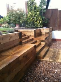 Cheapest Railway Sleepers by Steps Walls Patio With New Railway Sleepers Gorgeous