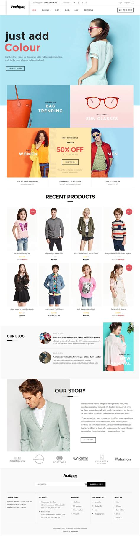 woocommerce themes clothing woocommerce fashion wordpress theme fashion plus