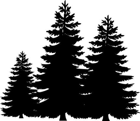 pine tree silhouette clip art cliparts free cricut