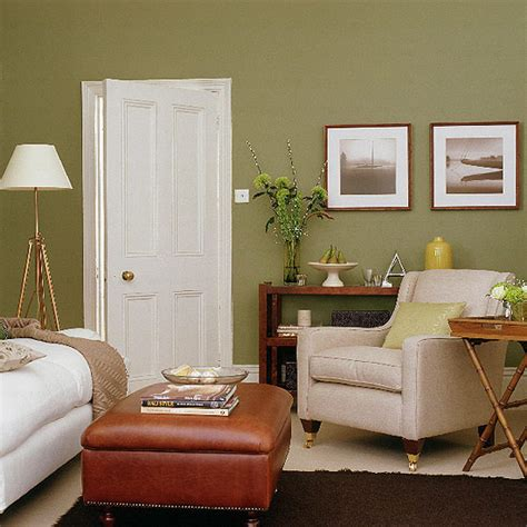 Green And Brown Living Room | home design brown and green living room