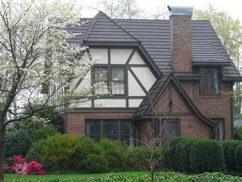 stone coated steel roof on a tudor style home metal roofing ideas and designs pinterest