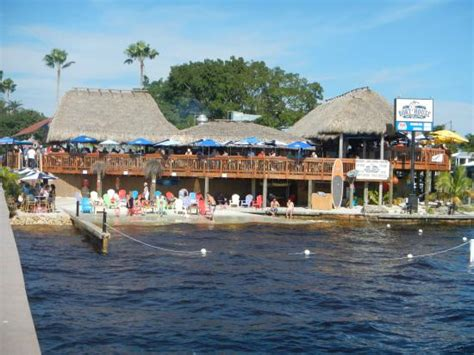 boathouse cape coral restaurant from the pier picture of boat house tiki bar