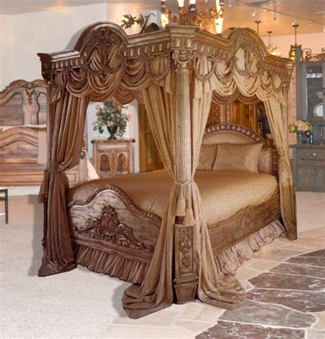 Luxury Canopy Bed | luxurious over the top canopy bed made in the good ole