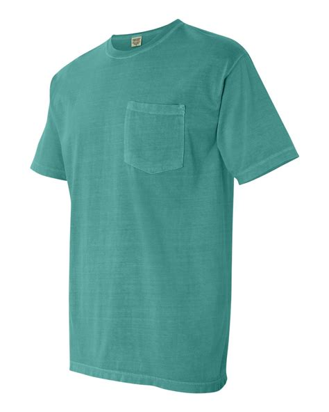seafoam comfort colors comfort colors mens pigment short sleeve shirt with pocket