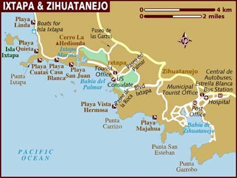map of mexico showing ixtapa map of ixtapa zihuatanejo