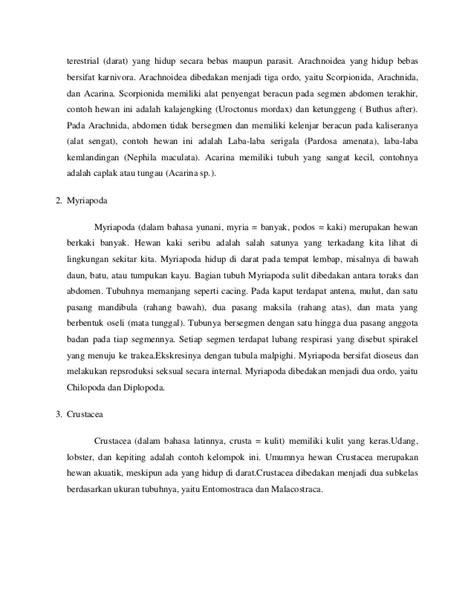 contoh laporan zoologi invertebrata laporan praktikum sistematika hewan invertebrata quot classis