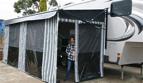 rv roll up awnings annexes and awnings cameron cers and cameron canvas