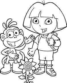 dora blank coloring pages dora and boots near the train coloring pages dora the
