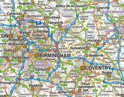 map of central uk digital vector maps central midlands region