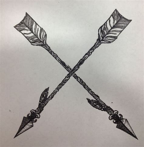 crossing arrow tattoo meaning best 25 crossed arrows ideas on crossed arrow
