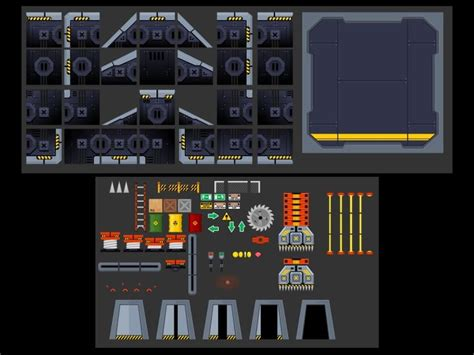 outerspace scifi headquarter  tilemaps  games