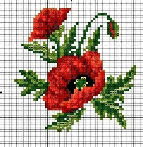 free cross stitch pattern maker from photo 411 best haft krzyżykowy maki i inne polne kwiatki