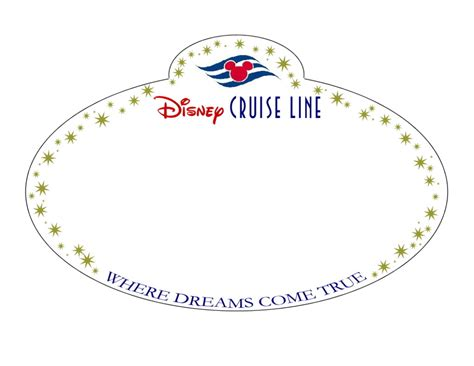 door name tag template 8 best images of disney cruise templates printables