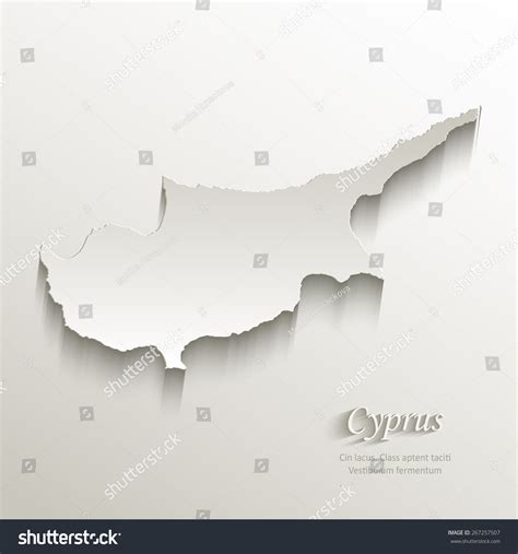 cyprus map vector cyprus map card paper 3d vector 267257507