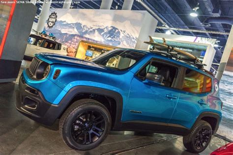 mopar jeep renegade semashow seen here jeep shows us the potential of
