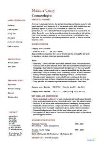 Cosmetology resume, cosmetologist, hair, skin, example
