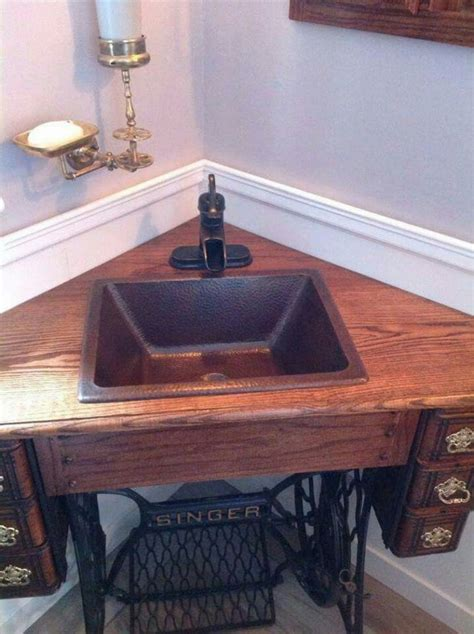 Antique Butcher Block Kitchen Island by Creative Ways To Reuse Your Old Sewing Machine Table The