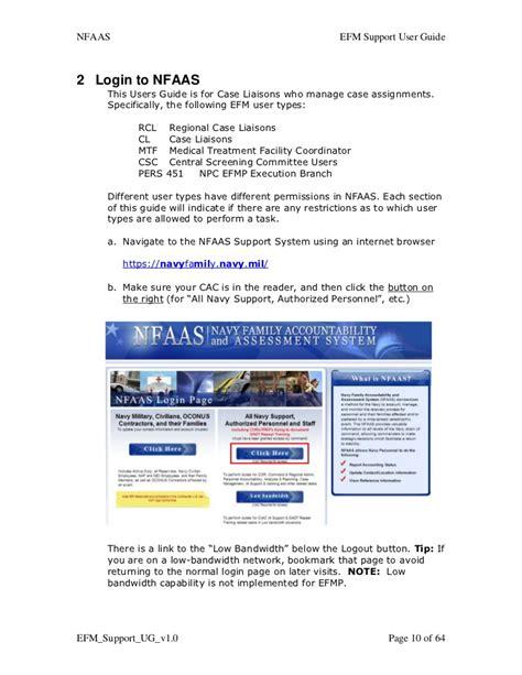 nfaas log on efm support user guide v1 01