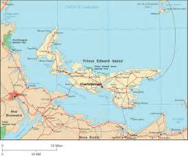 prince edward island map map of prince edward island