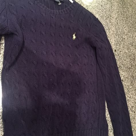 womens navy blue cable knit sweater 55 ralph sweaters ralph s cable