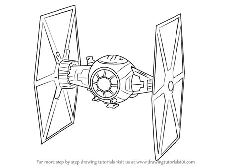 Star Wars Tie Fighter Coloring Page | learn how to draw tie fighter from star wars the force