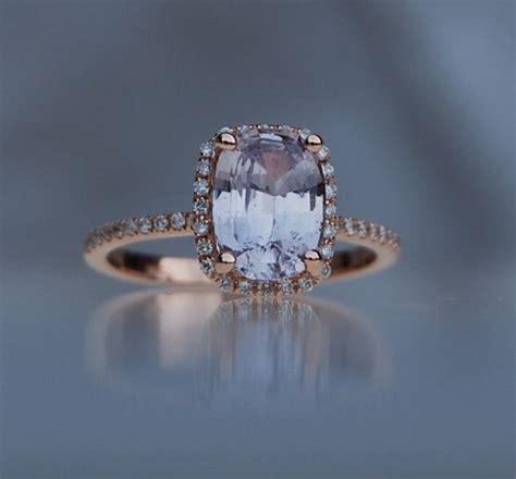 light blue sapphire engagement rings 2 04ct light lavender gray blue color change cushion