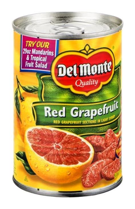 grapefruit sections del monte red grapefruit sections in light syrup hy vee