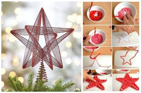 come creare un ladario fai da te come fare un puntale a stella per l albero di natale con