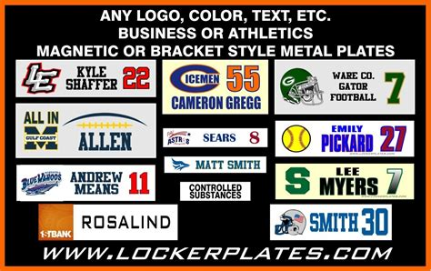 Magnetic Desk Name Plates Arts Arts Locker Nameplates Template