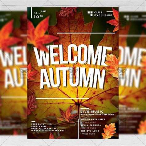 Welcome Autumn Seasonal A5 Flyer Template Exclsiveflyer Free And Premium Psd Templates Welcome Flyer Template