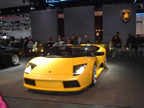 yellow lamborghini front yellow lamborghini front view detroit auto show car