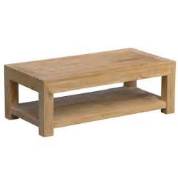 table basse lombok bois rectangle en teck massif achat