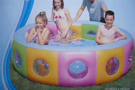 Kolam Renang Anak Bestway Fantastic Aquarium Play Pool Hadiah Kado Nat kolam renang warna warni window pool 196cm aneka produk bestway murah