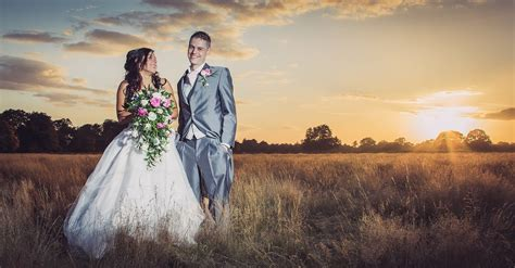 Wedding Portrait Photographers by How It Was Edited 2 Sunset Wedding Portrait