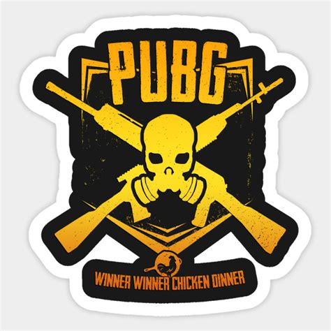 Sticker Gamer Pubg Pubg Emblem Gold Pubg Sticker Teepublic