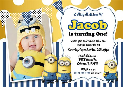 minion invitation card template minions birthday invitations minion birthday invitations