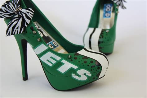 nfl high heels custom nfl ny jets heels by www ocdcool j e t s