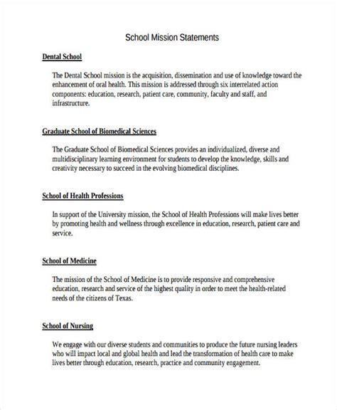 51 Mission Statement Exles Sles Pdf Word Pages Mission Statement Template