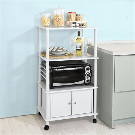 cabinet microwave shelf sobuy 174 kitchen storage cabinet kitchen cart microwave
