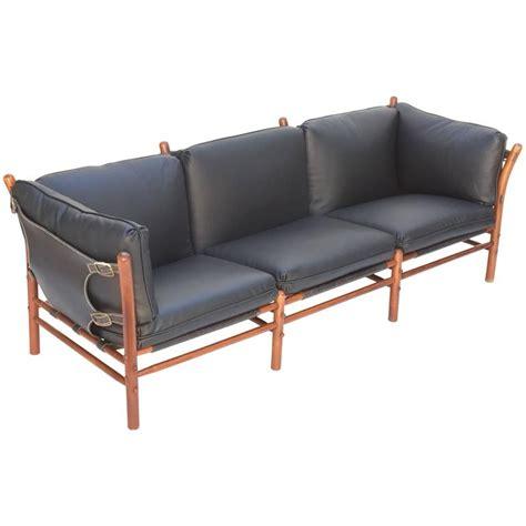 safari sofa black leather safari sofa by arne norell for sale at 1stdibs