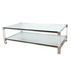 Lucite Coffee Tables Two Tier Chrome And Lucite Coffee Table Coffee Tables