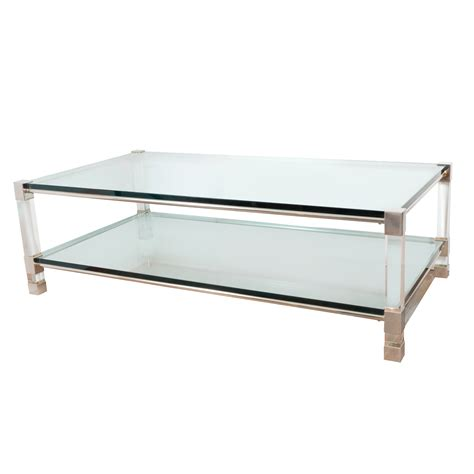 Two Tier Chrome And Lucite Coffee Table Coffee Tables Two Coffee Tables