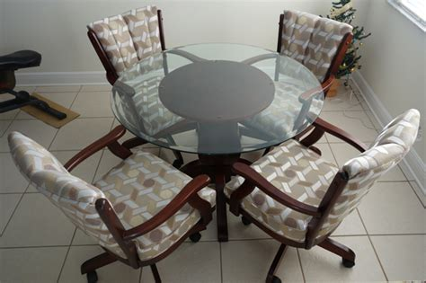 Kitchen Table Sets With Upholstered Chairs Dining Room Glamorous Dining Room Sets With Caster Chairs